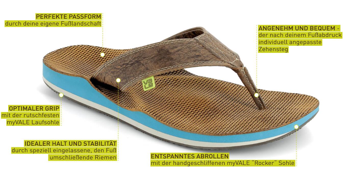 Das Besondere einer myVALE Sandale