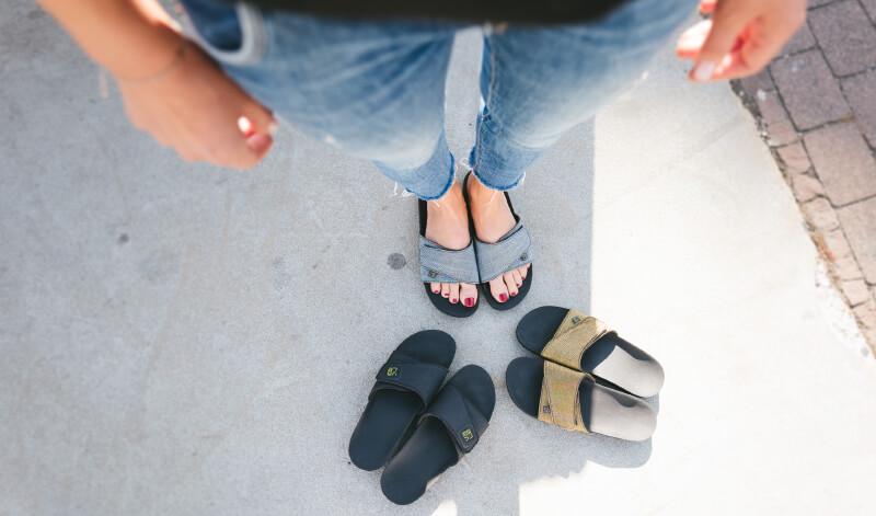 myVALE Pantolette drei Designs